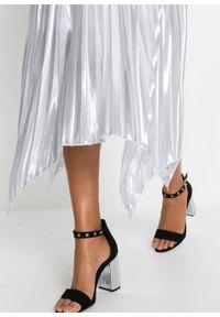 Srebrna spódnica bonprix długa