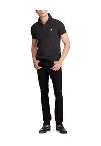 Ralph Lauren - RALPH LAUREN - Koszulka polo Slim Fit. Typ kołnierza: polo. Kolor: czarny. Materiał: bawełna, prążkowany. Wzór: haft #3