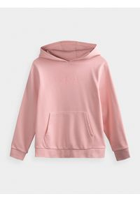 Różowa bluza 4f na co dzień, casualowa, z kapturem