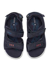 Niebieskie sandały ecco klasyczne, na lato