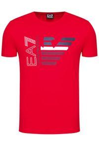 Czerwony t-shirt EA7 Emporio Armani