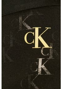 Czarna spódnica Calvin Klein Jeans na co dzień, casualowa, z nadrukiem