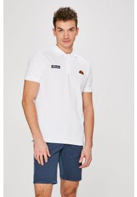 Biała koszulka polo Ellesse casualowa, na co dzień