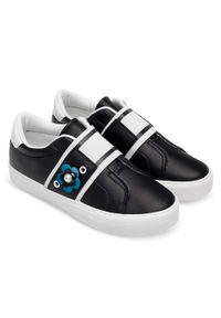 Czarne buty sportowe Ideal Shoes w kolorowe wzory, trekkingowe