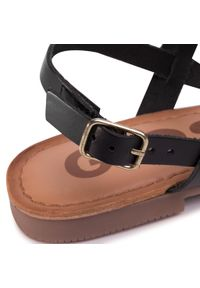 Czarne sandały Gioseppo na średnim obcasie, na obcasie
