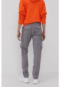 Napapijri - Spodnie. Okazja: na co dzień. Kolor: szary. Materiał: tkanina. Styl: casual