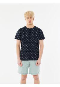 outhorn - T-shirt z nadrukiem męski. Okazja: na co dzień. Materiał: bawełna, dzianina, materiał. Wzór: nadruk. Styl: wakacyjny, casual #4