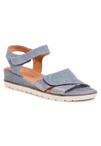 Niebieskie sandały Clara Barson casualowe, na co dzień