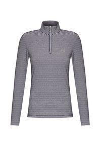 Sweter Chervo z golfem, elegancki, w prążki, krótki