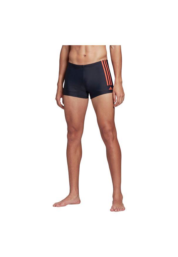 Adidas - Kąpielówki męskie adidas Semi 3-Stripes Swim Briefs FJ4738. Materiał: nylon, tkanina, materiał, elastan. Długość: długie