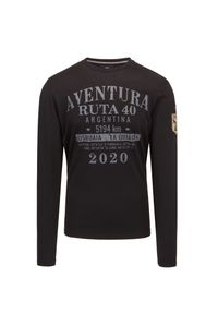 T-shirt La Martina z długim rękawem, z nadrukiem, długi