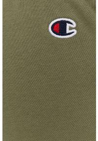 Zielone spodnie dresowe Champion z aplikacjami