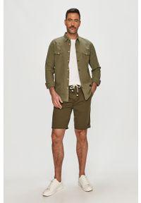 Oliwkowe szorty Pepe Jeans na co dzień, casualowe