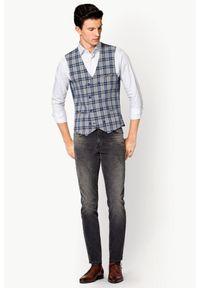 Szare jeansy Lancerto vintage, z haftami