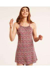 Lya Halka Nocnca Made With Liberty Fabric - S - Fuksja - Etam. Kolor: różowy. Wzór: kwiaty