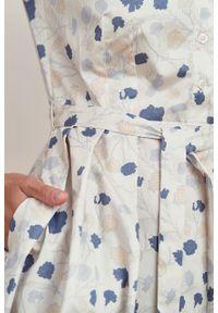Marie Zélie - Sukienka Alodia Estrilda. Materiał: bawełna, satyna, skóra, materiał. Długość rękawa: krótki rękaw