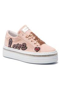 Różowe buty sportowe Togoshi