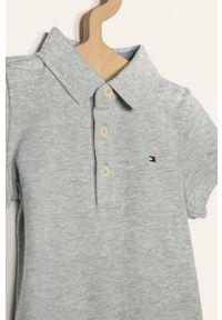 Szary t-shirt polo TOMMY HILFIGER krótki, polo