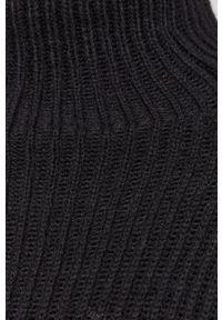 Drykorn - Sweter. Typ kołnierza: golf. Kolor: czarny. Materiał: dzianina. Długość rękawa: długi rękaw. Długość: długie