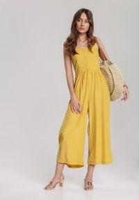 Renee - Żółty Kombinezon Iphalira. Kolor: żółty
