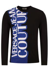 Czarny sweter klasyczny Versace Jeans Couture