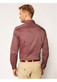 Czerwona koszula biznesowa TOMMY HILFIGER