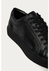 Czarne sneakersy Calvin Klein z cholewką, na sznurówki