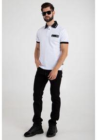 POLO Versace Jeans Couture. Typ kołnierza: polo. Wzór: jednolity, nadruk. Styl: sportowy