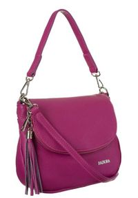 Skórzana torebka damska różowa Badura T_D217RO_CD. Kolor: różowy. Materiał: skórzane