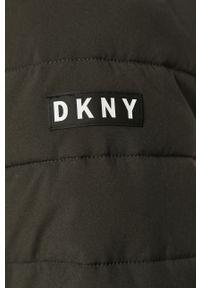Oliwkowa kurtka DKNY na co dzień, casualowa