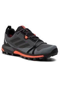 Szare buty do biegania Adidas Adidas Terrex, z cholewką, Gore-Tex