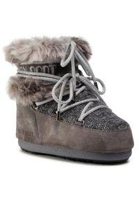 Szare śniegowce Moon Boot na zimę
