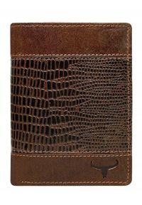 BUFFALO WILD - Portfel męski Buffalo Wild brązowy N4-VTC. Kolor: brązowy. Materiał: skóra