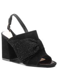 Czarne sandały Alma En Pena na co dzień, casualowe