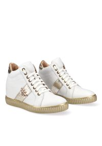 Białe buty sportowe Arturo Vicci na co dzień, trekkingowe