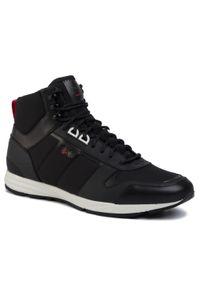 Czarne sneakersy Hugo na co dzień, z cholewką