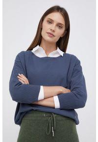 Mos Mosh - Sweter. Kolor: niebieski. Materiał: dzianina