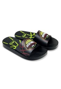 LANO - Klapki dziecięce basenowe Lano KL-2-3112-M1 Czarne. Okazja: na plażę. Kolor: czarny. Materiał: guma