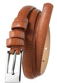 4U CAVALDI - Pasek damski brązowy Cavaldi BK-3-1.4 BROWN. Kolor: brązowy. Materiał: skóra