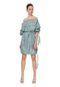 Zielona sukienka TOP SECRET oversize