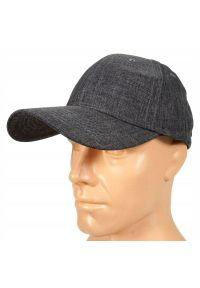 Czarna czapka Pako Jeans na lato, melanż