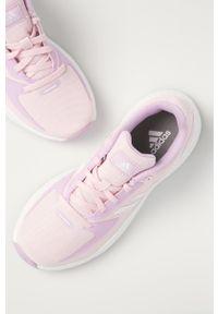 Różowe buty sportowe Adidas z cholewką, na sznurówki