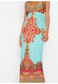 Niebieska sukienka bonprix maxi, na lato, paisley