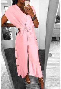 Różowy kombinezon IVET elegancki
