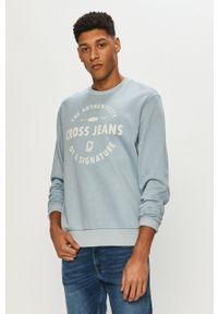Cross Jeans - Bluza. Okazja: na co dzień. Kolor: niebieski. Materiał: dzianina. Wzór: nadruk. Styl: casual