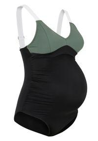Czarny strój kąpielowy bonprix moda ciążowa