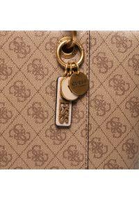 Brązowa torebka klasyczna Guess na ramię, skórzana