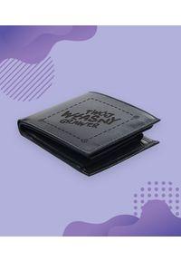 MegaKoszulki - Portfel skórzany z własnym nadrukiem. Materiał: skóra. Wzór: nadruk