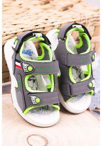 Casu - szare sandały na rzepy casu f03. Zapięcie: rzepy. Kolor: szary