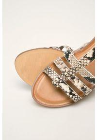Beżowe sandały Aldo z okrągłym noskiem, bez obcasa